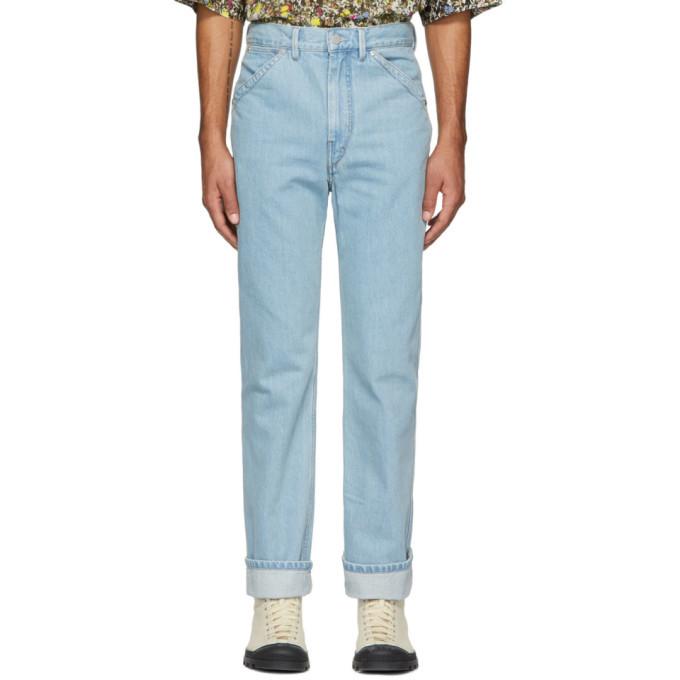 Lemaire Blue 5-Pocket Jeans