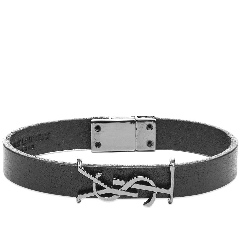 Photo: Saint Laurent YSL Leather Bracelet