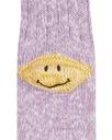 Kapital 56 Yarns 3x1 Rib Heel Smile Socks Purple