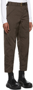 Giorgio Armani Brown Satin-Effect Belted Pants