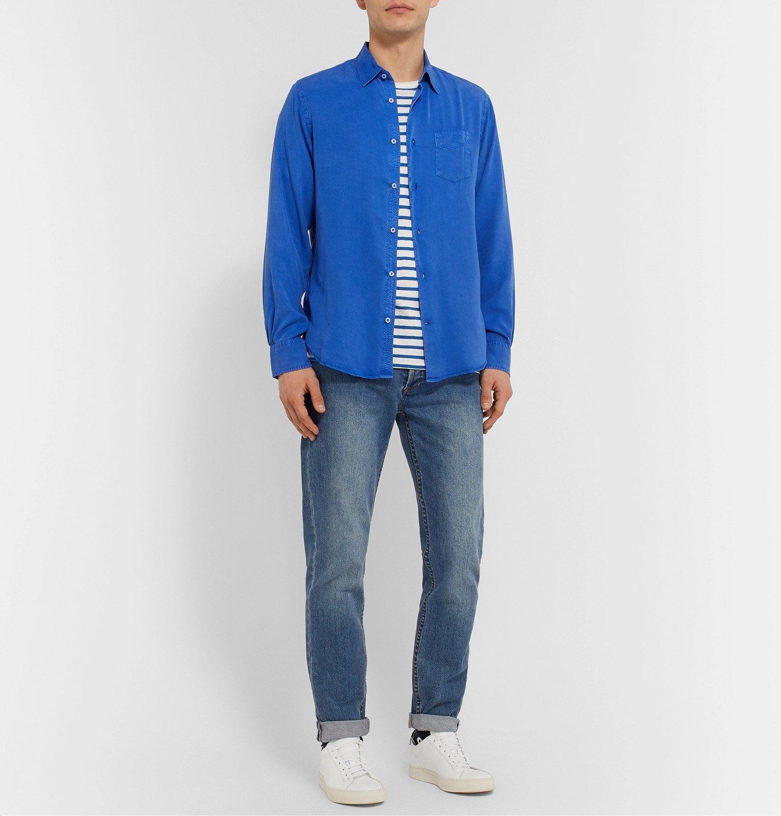 Officine Generale - Benoit Pigment-Dyed Lyocell Shirt - Blue