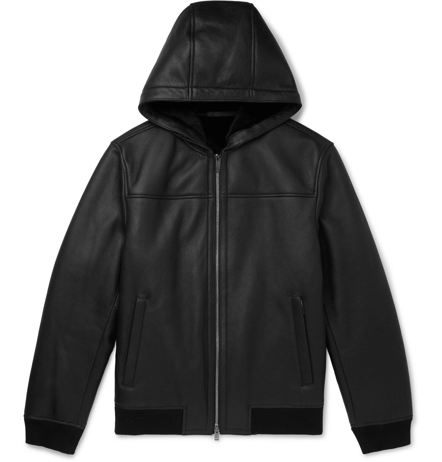 Photo: Theory - Rivington Shearling Hooded Jacket - Black