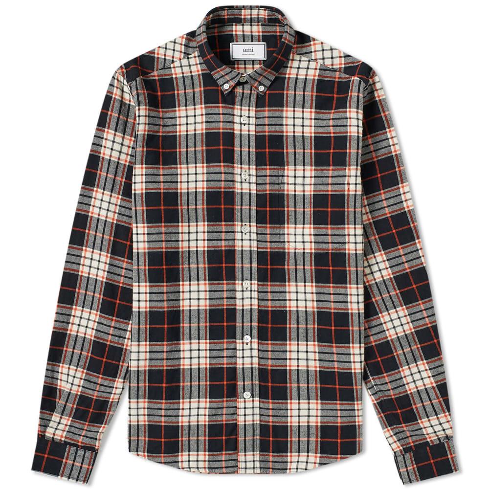 Photo: AMI Button Down Flannel Check Shirt
