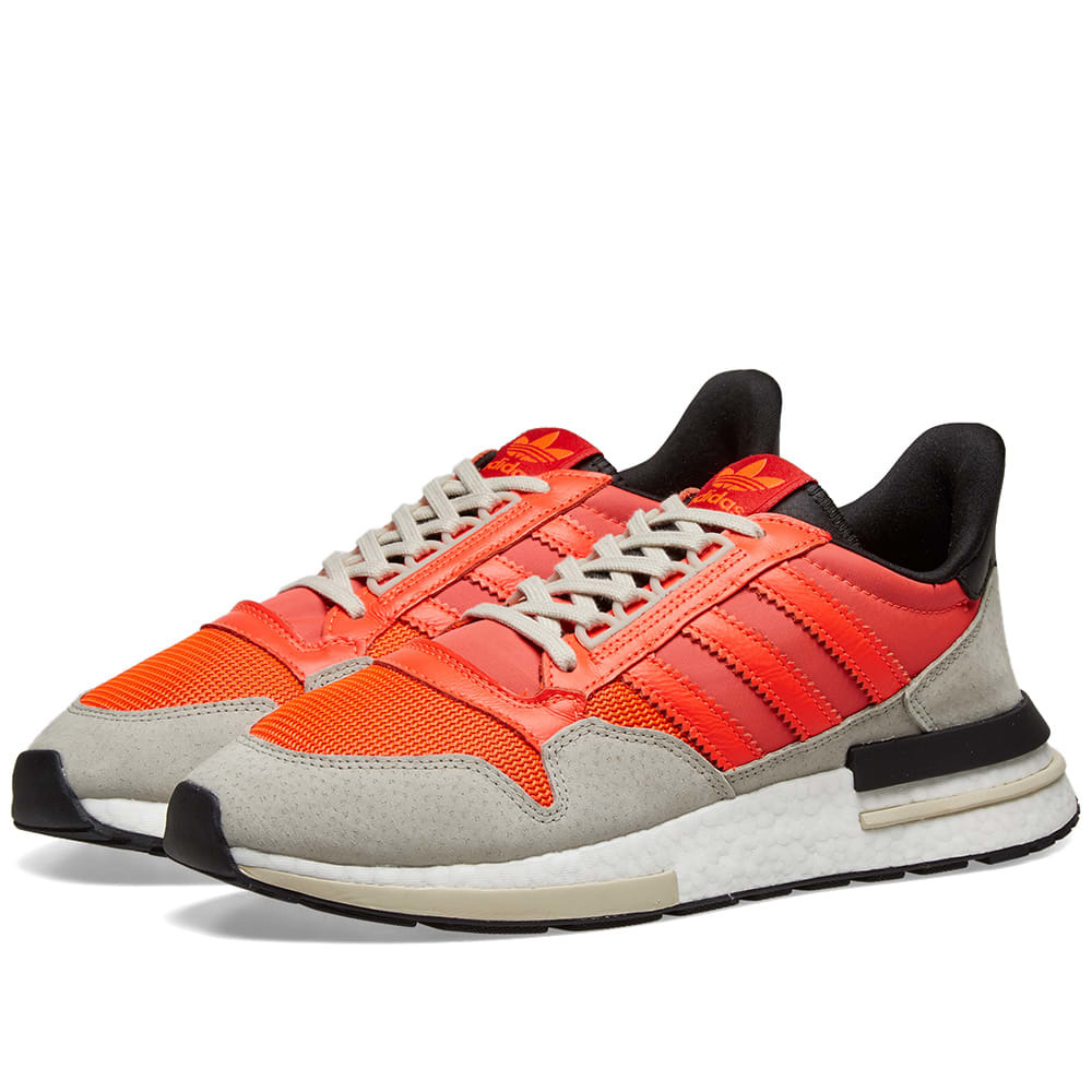 Photo: Adidas ZX 500 RM Solar Red, Core Black & White