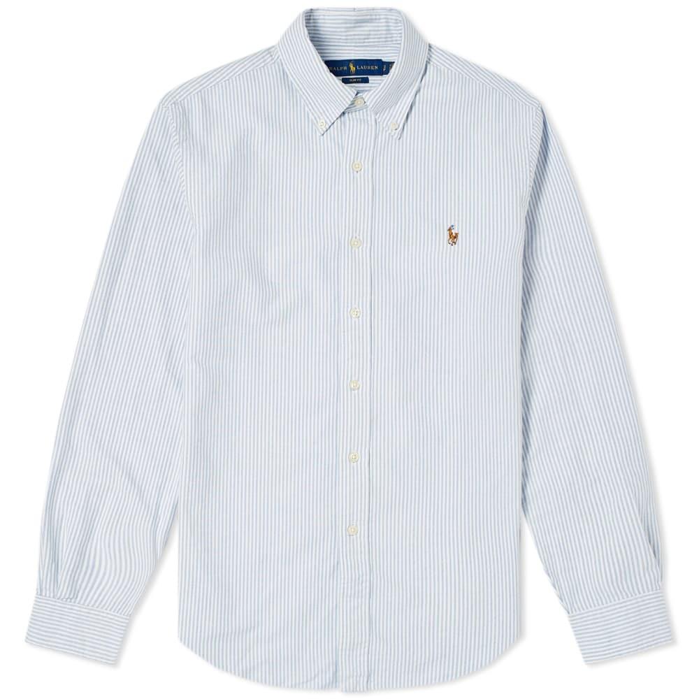 44d5e6186a67 Polo Ralph Lauren Slim Fit Button Down Stripe Oxford Shirt Polo ...