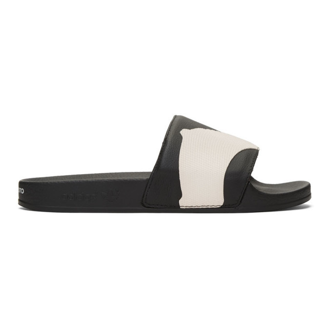 Photo: Y-3 Black and White Adilette Sandals