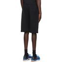 C.P. Company Black Diagonal Raised Shorts