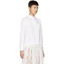 Sacai White Drawstring and Lace Shirt