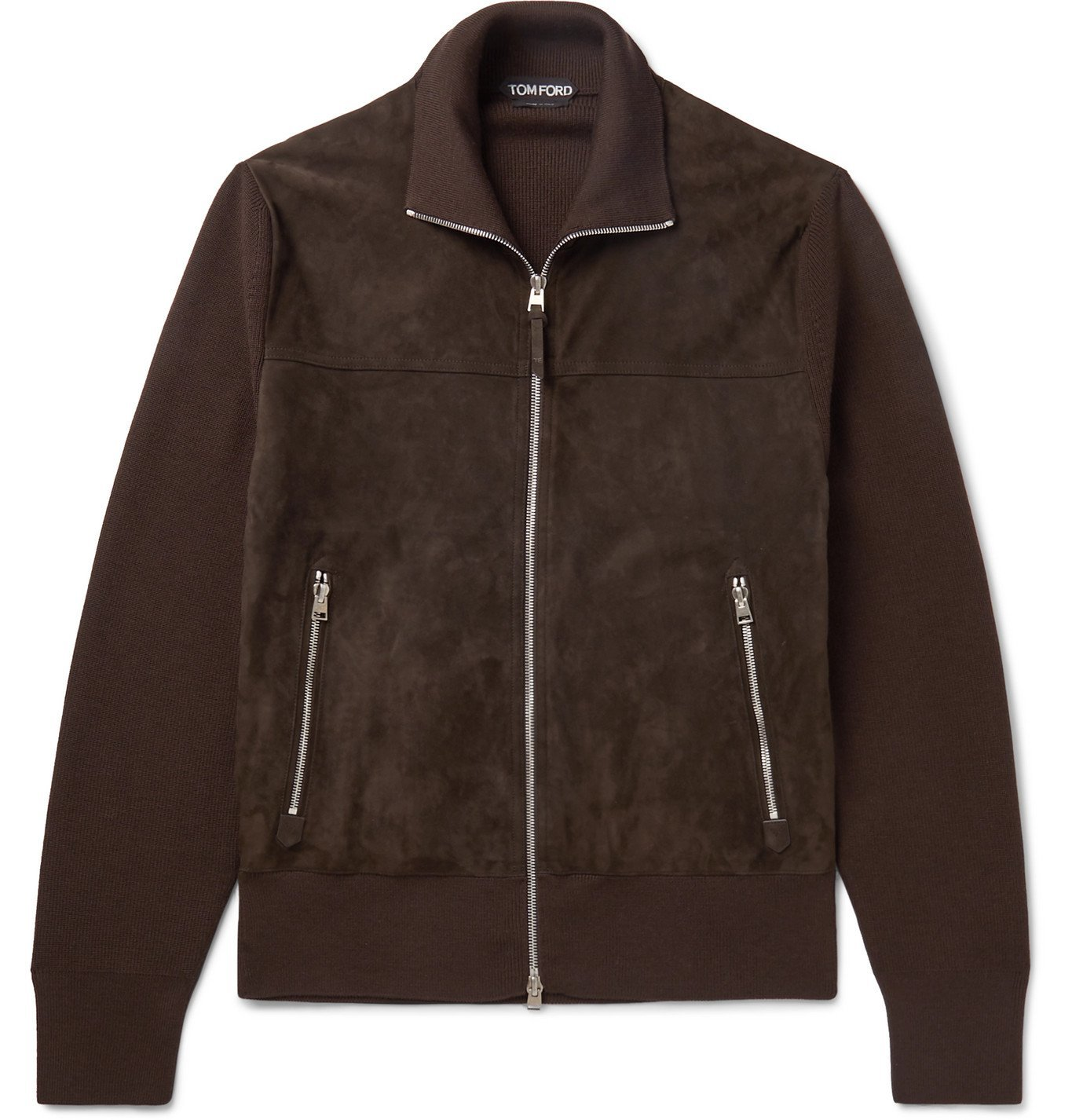 Photo: TOM FORD - Wool-Lined Suede Jacket - Brown