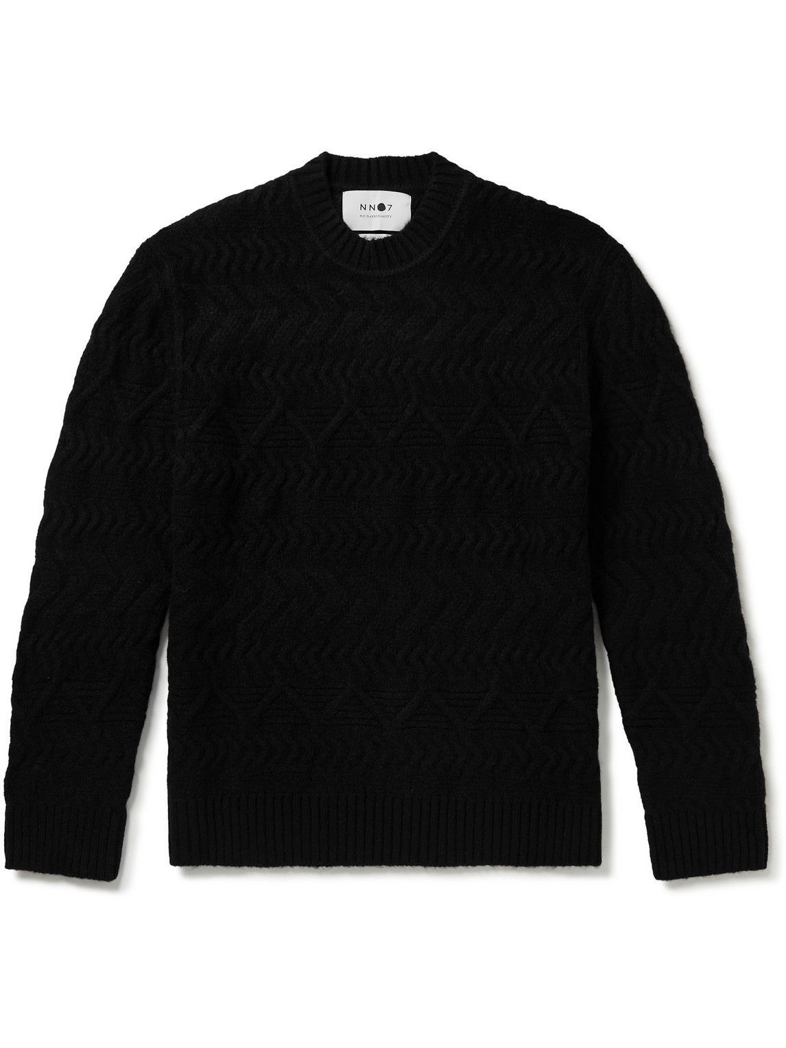 Photo: NN07 - Dominic Cable-Knit Sweater - Black