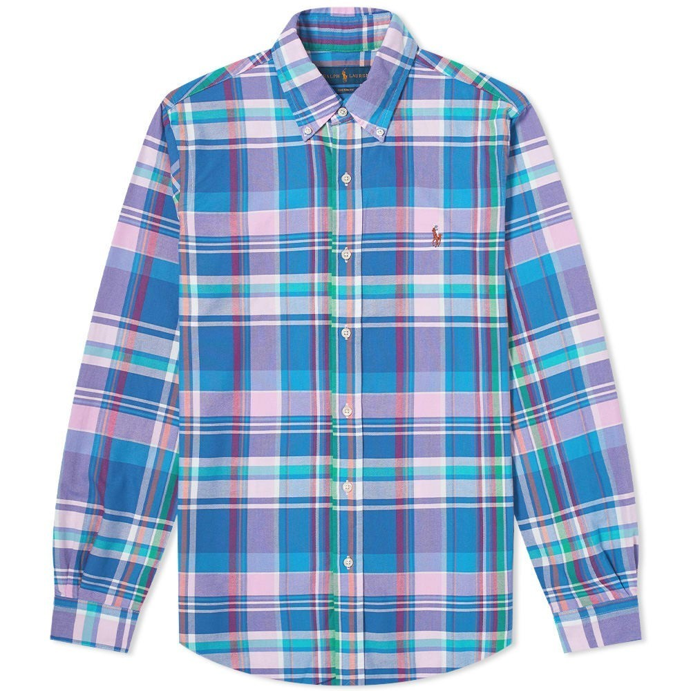 Photo: Polo Ralph Lauren Custom Fit Madras Check Button Down Shirt