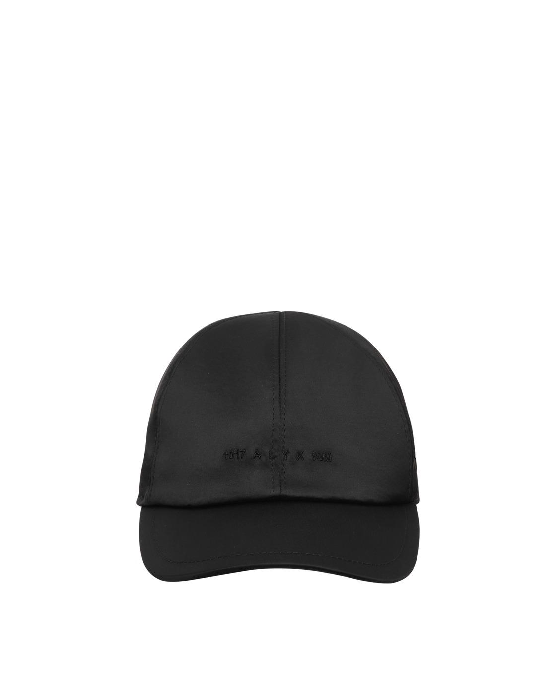 Photo: 1017 Alyx 9sm Satin Logo Buckle Cap Black