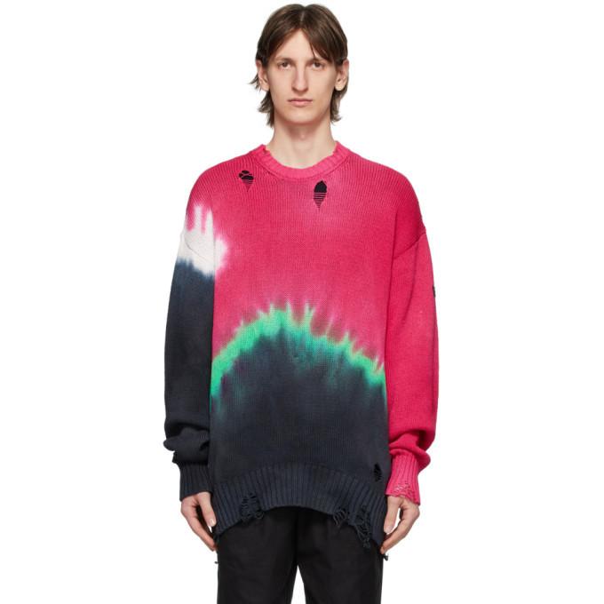 Photo: Poggys Box Multicolor Knit Tie-Dye Damage Sweater