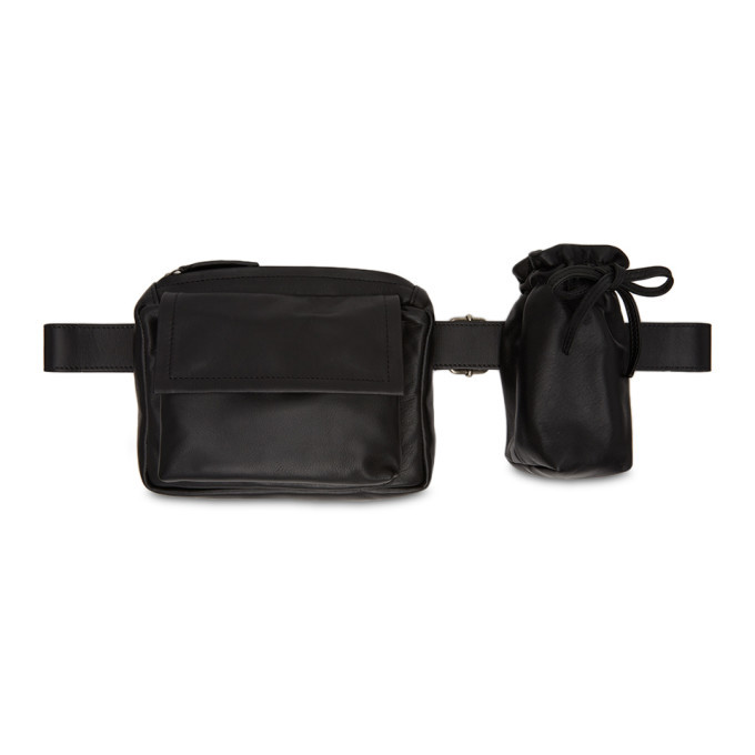 Photo: Ann Demeulemeester Black Leather Belt Bag