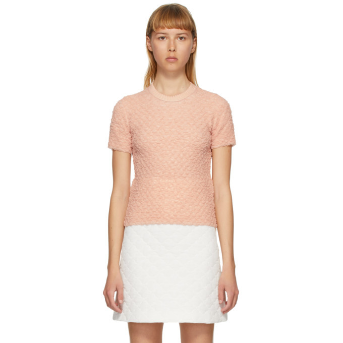 Photo: Fendi Pink Crinkled Viscose T-Shirt
