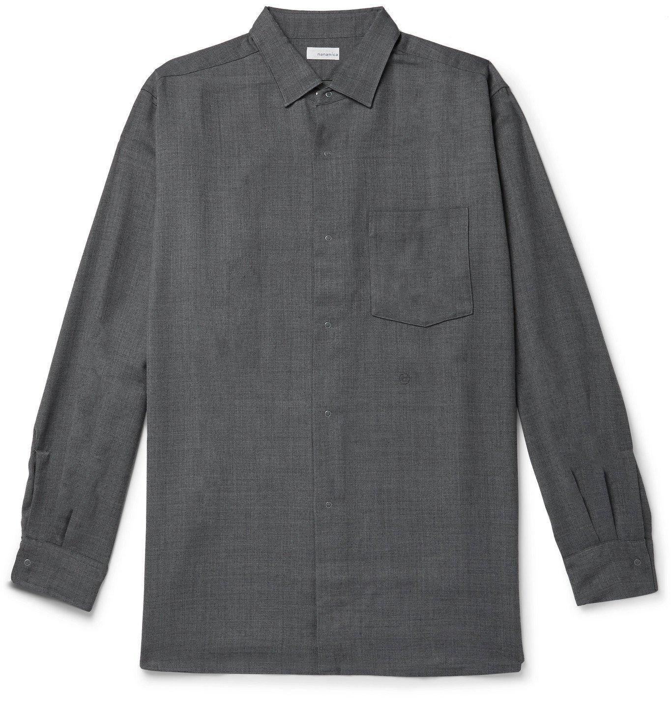 Photo: nanamica - Flannel Shirt - Gray