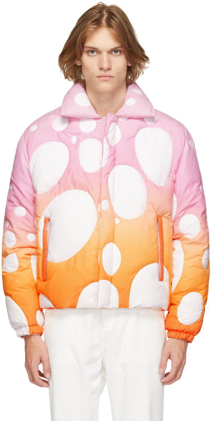 Photo: ERL Pink & Orange Circle Bomber Jacket