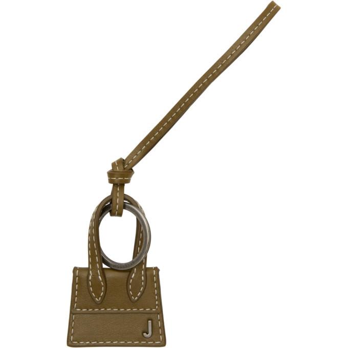 Photo: Jacquemus Khaki and Gunmetal Le Porte Cles Chiquito Keychain