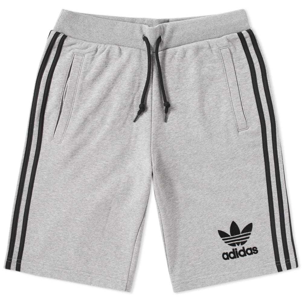 Adidas Three Stripe Short Grey
