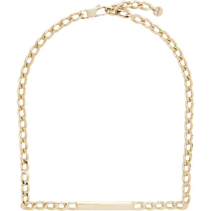 Photo: Jacquemus Gold Le Collier Carre Necklace