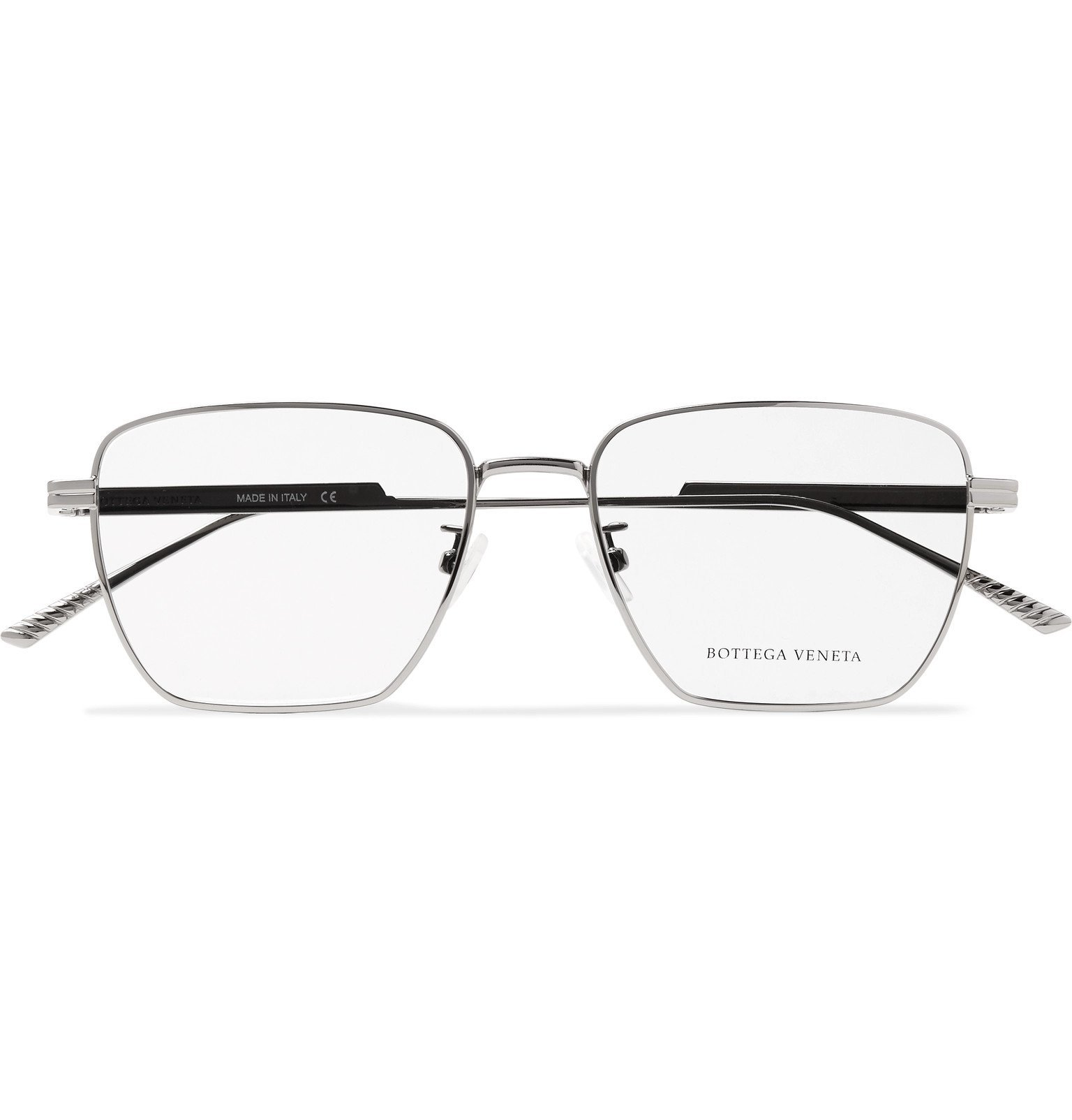 Photo: Bottega Veneta - Square-Frame Silver-Tone Optical Glasses - Silver