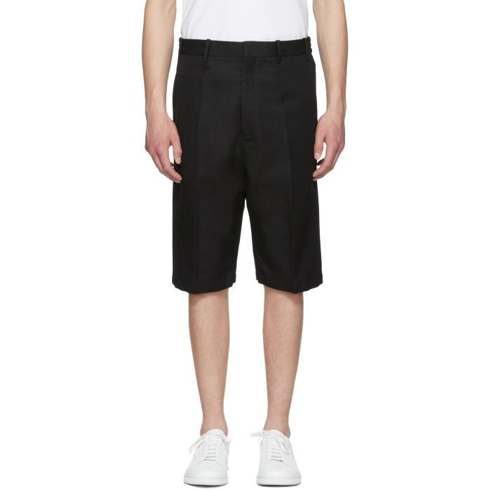 Photo: Neil Barrett Black Bi-Fabric Tailored Shorts