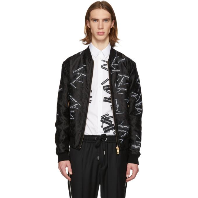 Photo: Dolce and Gabbana Black Tape Logo Bomber Jacket