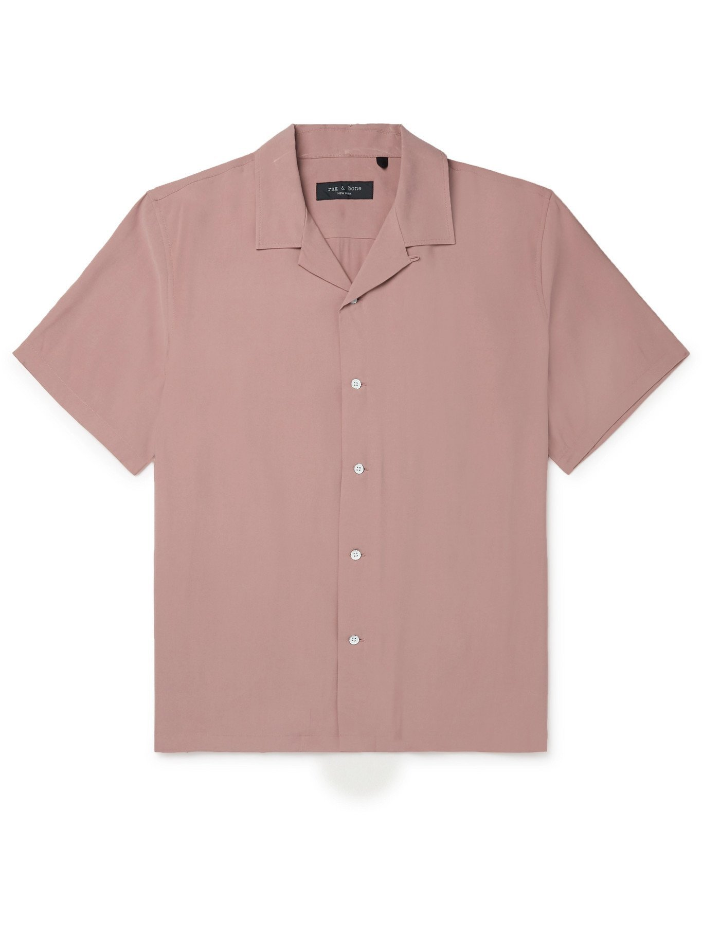 Photo: RAG & BONE - Avery Camp-Collar Voile Shirt - Pink