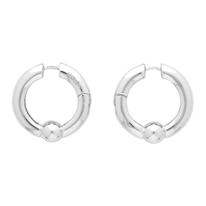 Photo: Ambush Silver Ball Closure Earrings