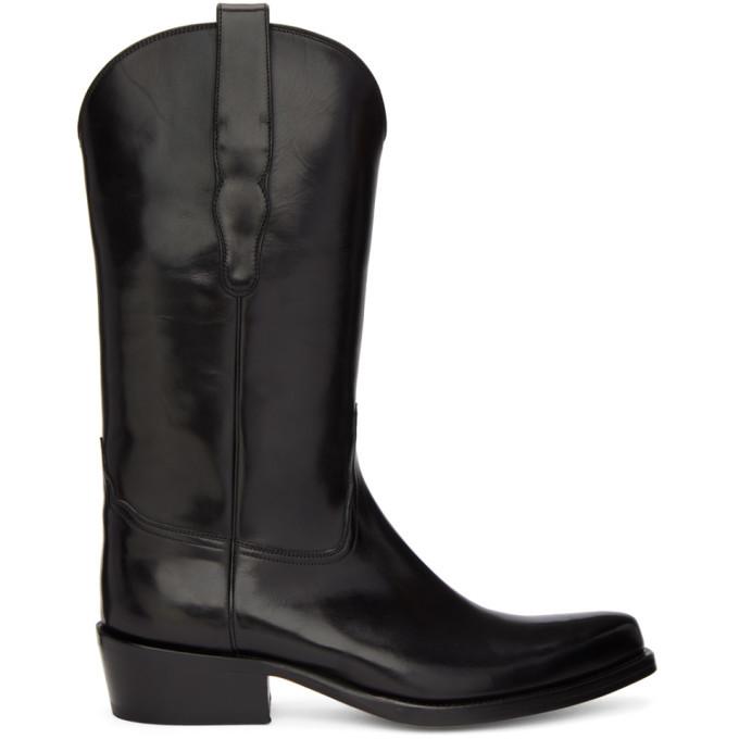 Photo: Brioni Black Cowboy Boots