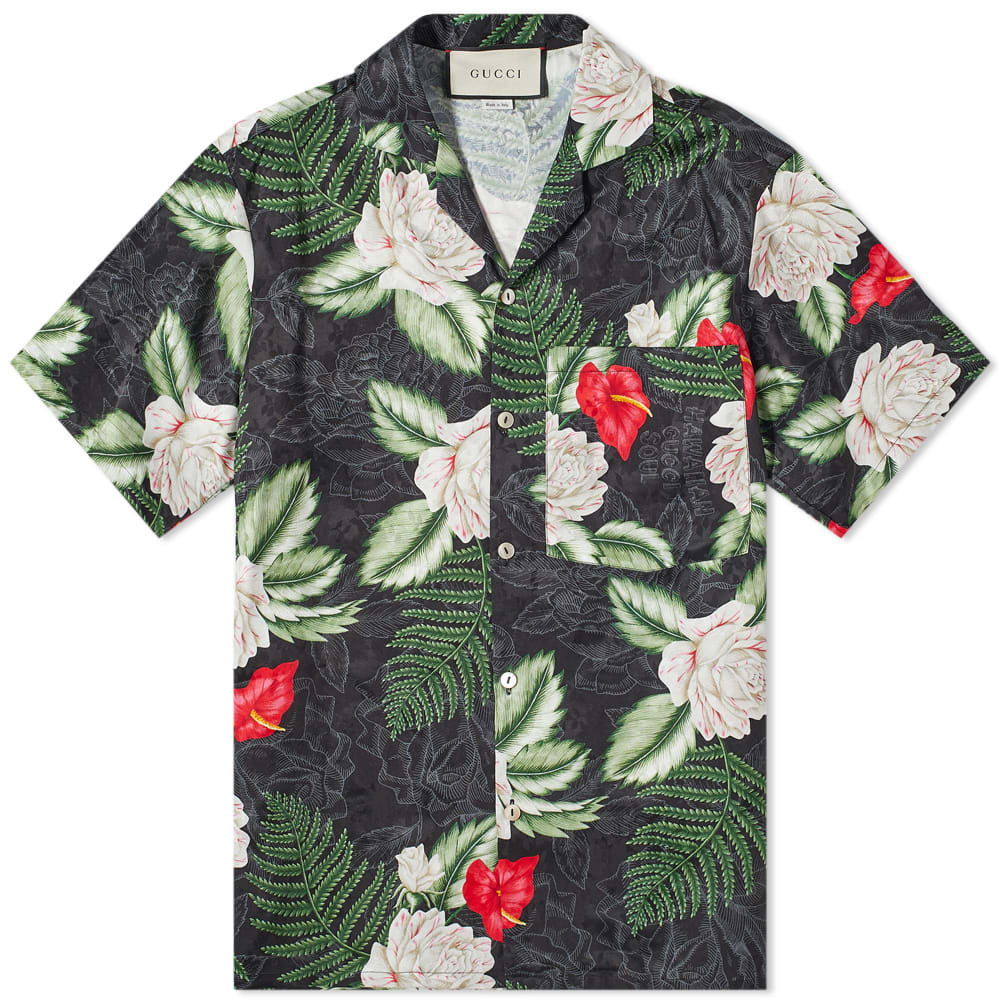 Photo: Gucci Hibiscus Pattern Vacation Shirt