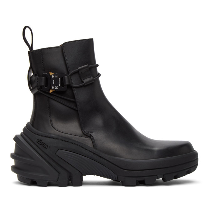 Photo: 1017 ALYX 9SM Black Buckle Fixed SKX Sole Chelsea Boots