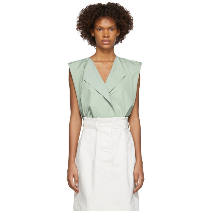 Photo: Lemaire Green Wrapover Blouse