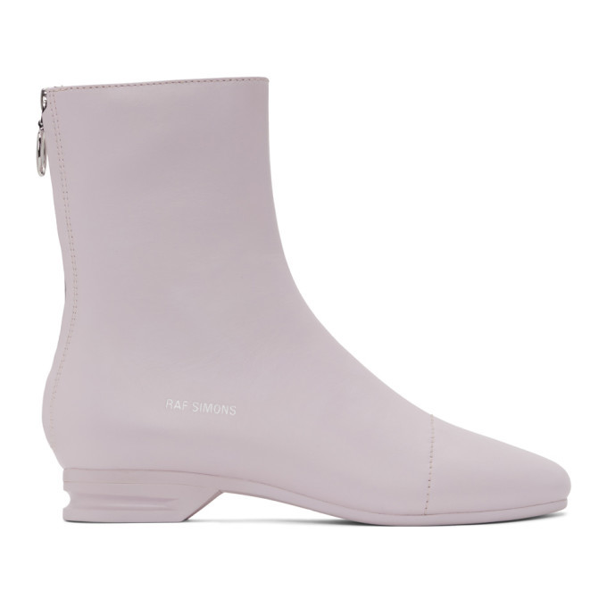 Photo: Raf Simons Pink 2001-2 Zip-Up Boots