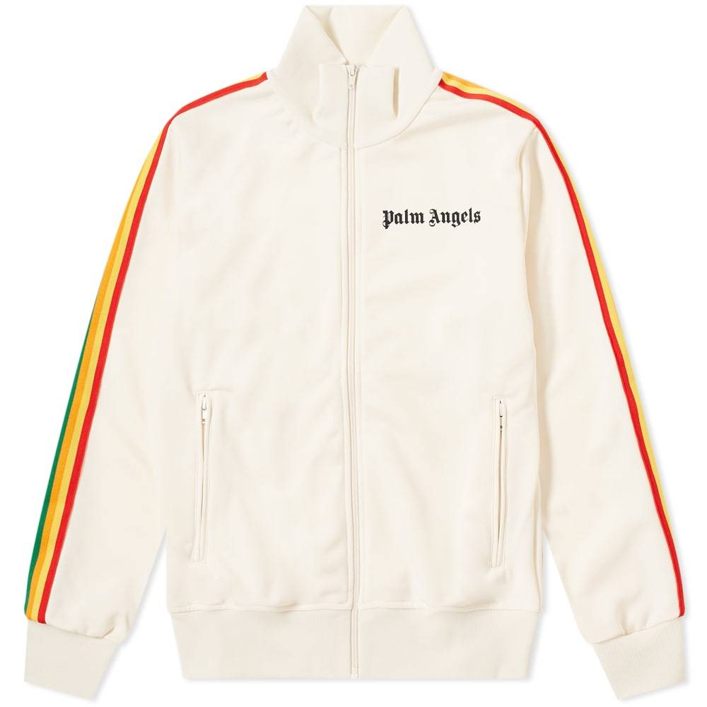 Photo: Palm Angels Rainbow Taped Track Jacket