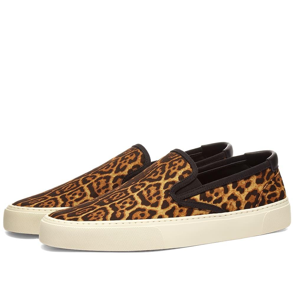 Photo: Saint Laurent Venice Leopard Slip On Sneaker