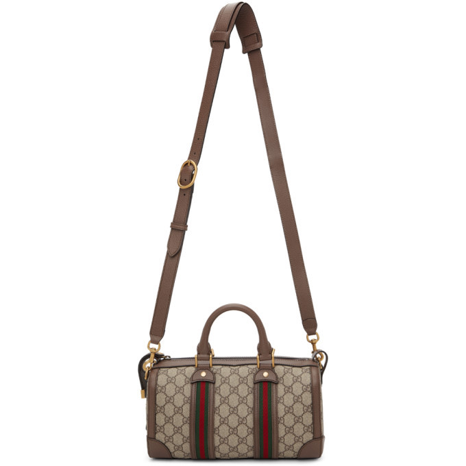 Photo: Gucci Brown and Beige Mini GG Supreme Bag