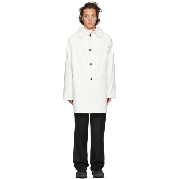 Photo: Kassl Editions White Oil Above The Knee Coat