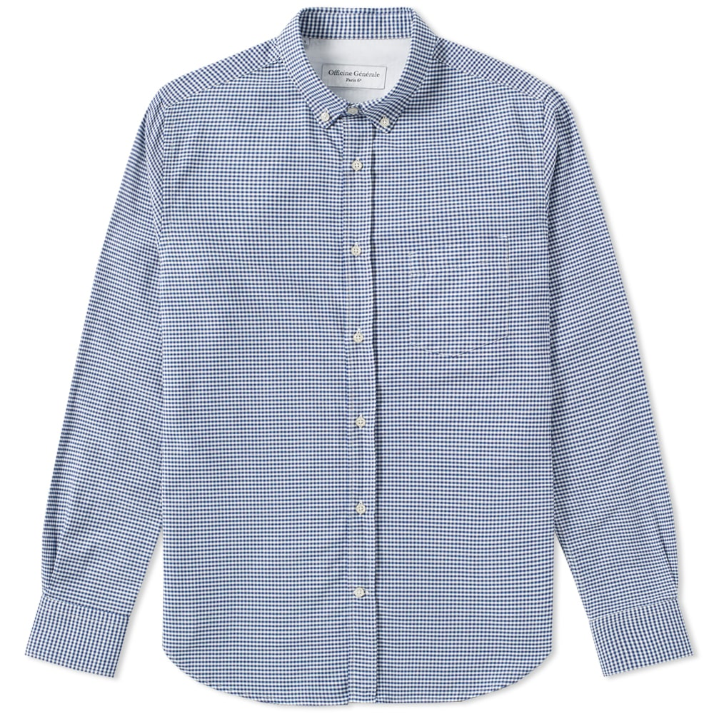 Photo: Officine Generale Button Down Gingham Shirt