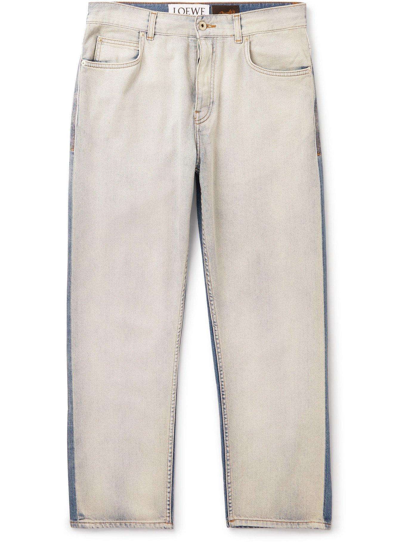 Photo: LOEWE - Paula's Ibiza Two-Tone Denim Jeans - Blue