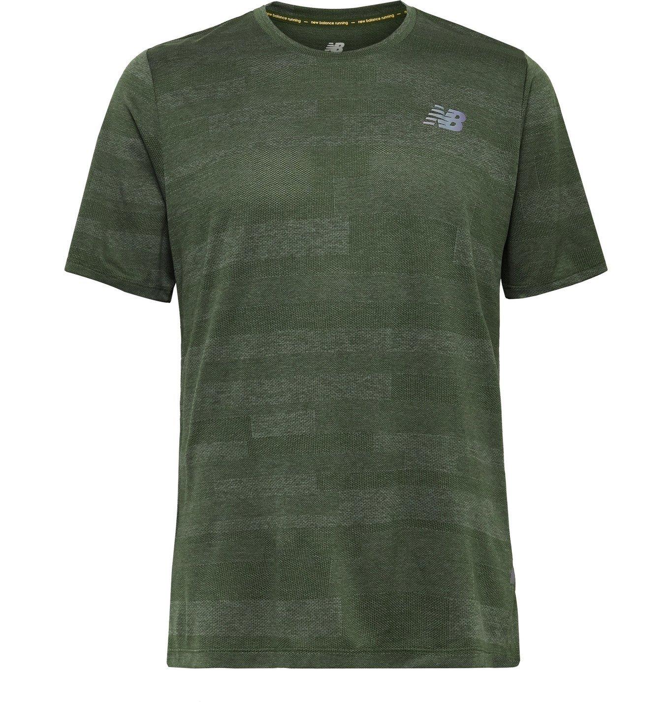 Photo: New Balance - Q Speed Fuel Jacquard-Knit T-Shirt - Green