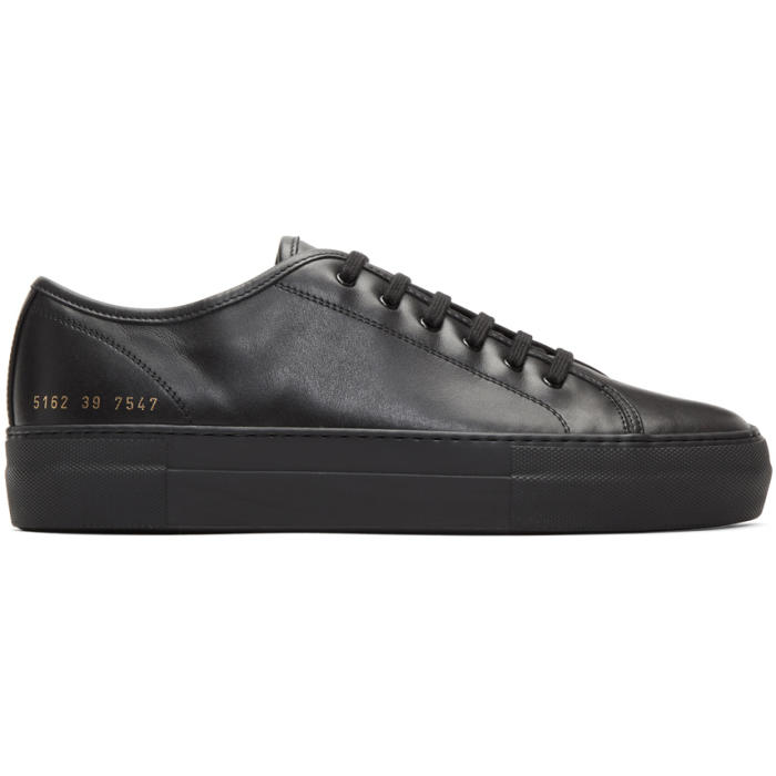 Common Projects Black Tournament Low Super Sneakers