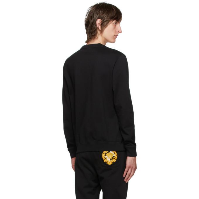 Versace Black Medusa Logo Sweatshirt