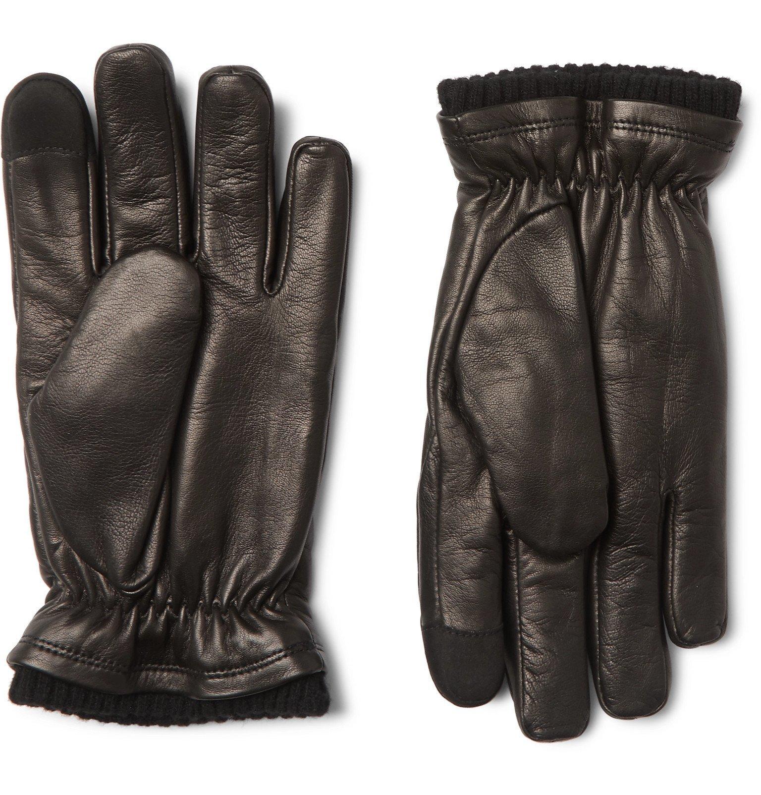 Photo: Hestra - John Touchscreen Primaloft Leather Gloves - Black