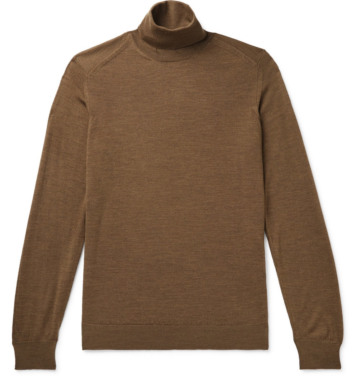 Photo: Caruso - Wool Rollneck Sweater - Brown