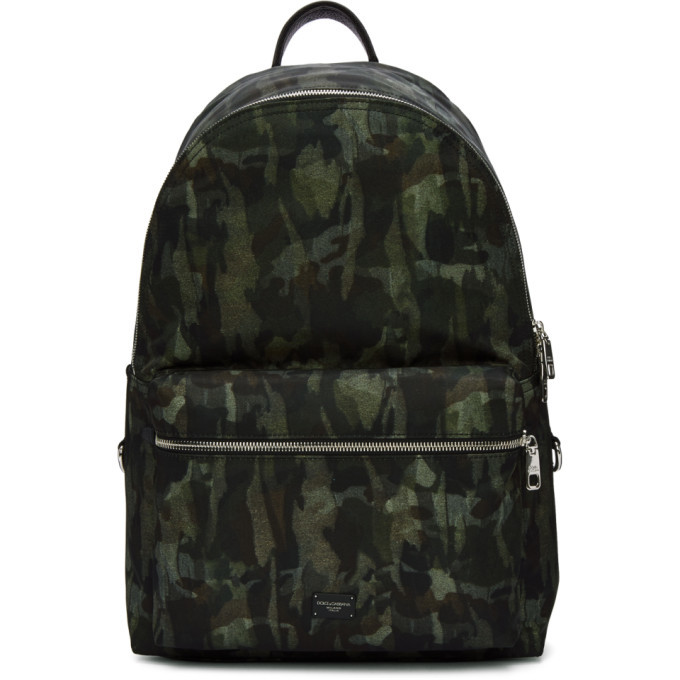 Photo: Dolce and Gabbana Green Camo Backpack