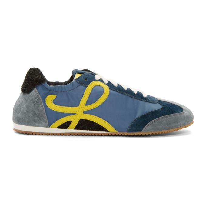 Photo: Loewe Blue and Yellow Ballet Runner Sneakers