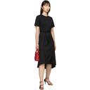 3.1 Phillip Lim Black Wool Combo T-Shirt Dress