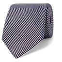 Giorgio Armani - 8cm Striped Cotton and Silk-Blend Tie - Men - Blue