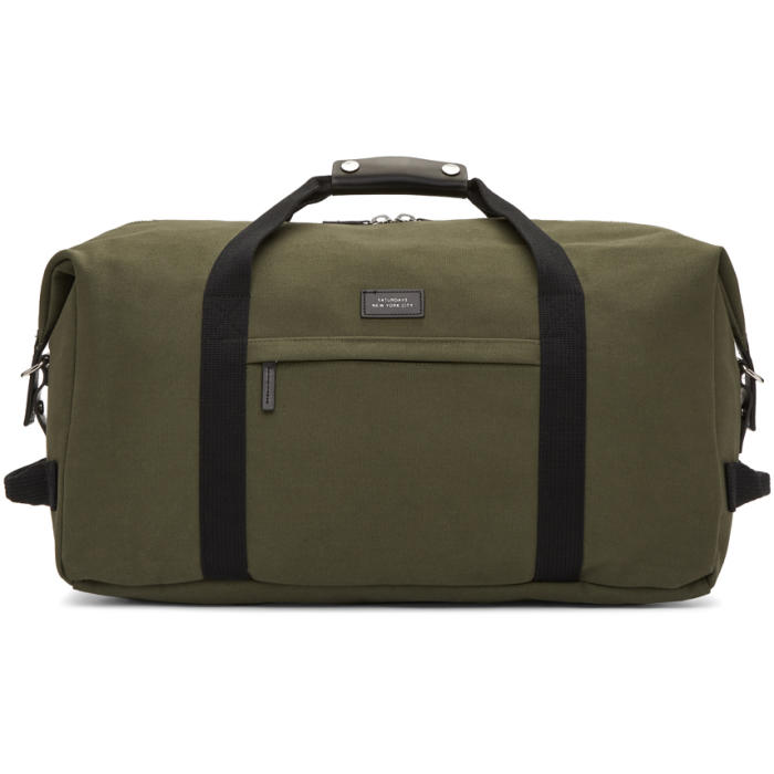 Photo: Saturdays NYC Green Norfolk Duffle Bag